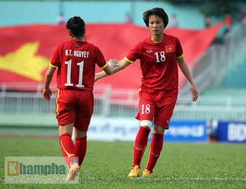 Nữ Myanmar - Nữ Việt Nam: Kịch tính vào chung kết - 1