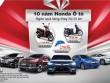 Honda kỷ niệm 10 năm ra mắt chiếc xe ôtô đầu tiên