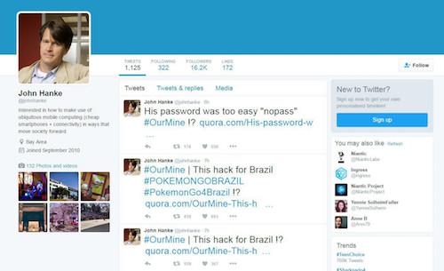 CEO công ty phát hành Pokémon GO bị hack tài khoản Twitter - 1