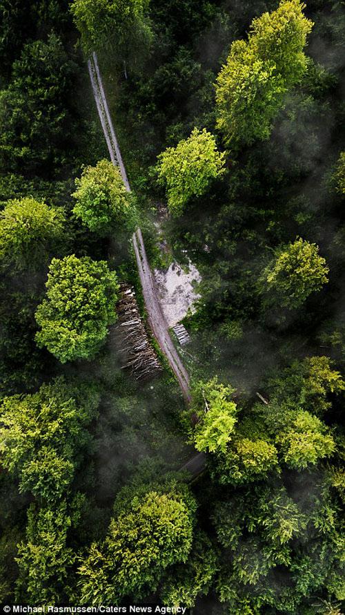 """Bộ ảnh """"gây bão"""" về thiên nhiên Đan Mạch từ trên cao - 8"""