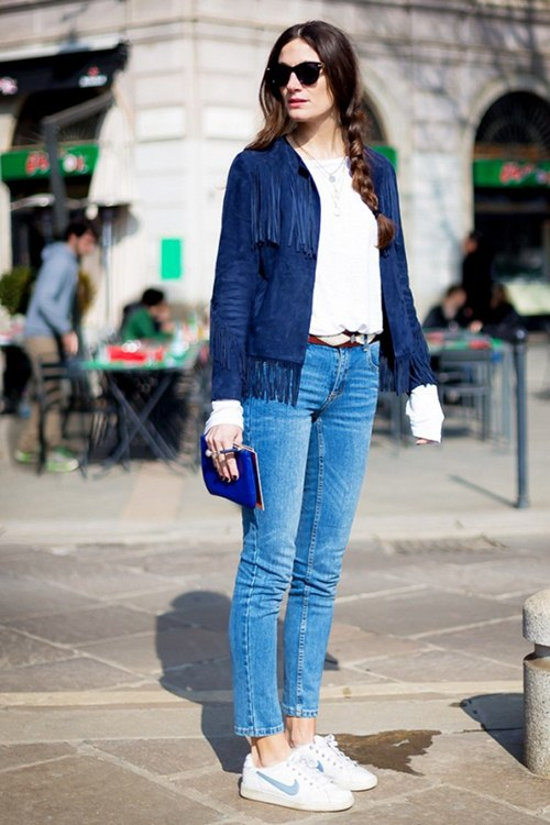 6 kiểu mặc đẹp mọi lúc mọi nơi với quần jeans - 8
