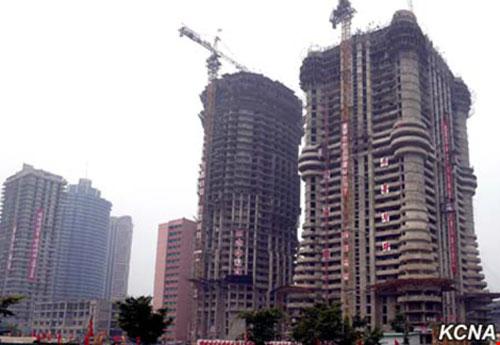Triều Tiên xây tòa nhà 70 tầng chỉ trong 74 ngày - 2