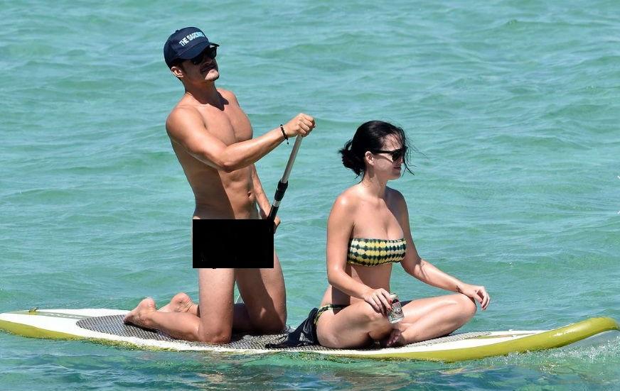 Orlando không mảnh vải che thân bên bạn gái Katy Perry - 1