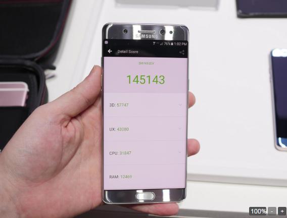 Samsung Galaxy Note 7 đọ hiệu năng với các siêu phẩm khác - 5