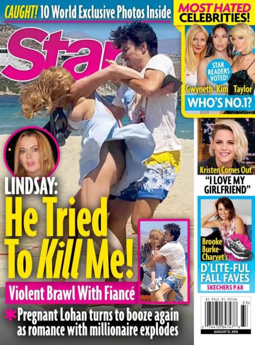Sốc với ảnh Lindsay Lohan bị hôn phu bạo hành - 1