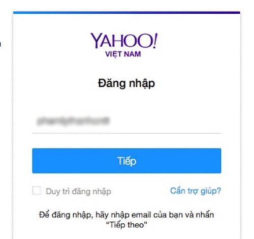 Cách đăng nhập Yahoo! Messenger khi quên mật khẩu - 1