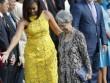 Phu nhân Thủ tướng Singapore diện túi 11 USD gặp Obama