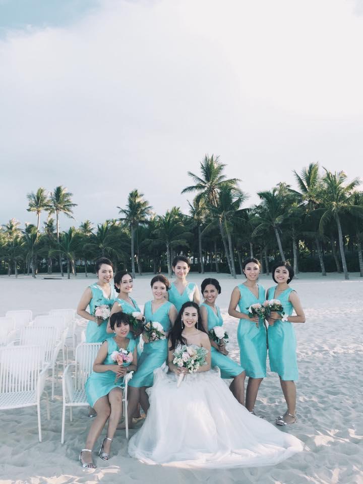 MC Mai Ngọc rạng rỡ chụp ảnh cưới trên biển - 1