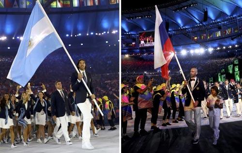 Dư âm khai mạc Olympic: Khán giả la ó đoàn thể thao Nga - 1
