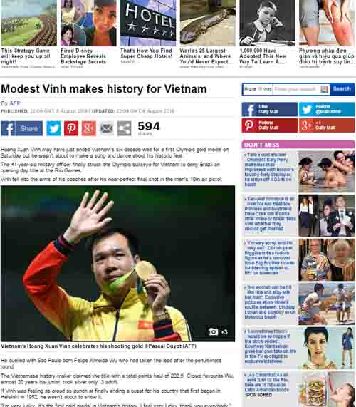 Báo chí thế giới sửng sốt vì HCV lịch sử Hoàng Xuân Vinh - 2