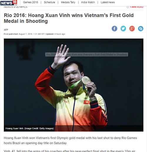 Báo chí thế giới sửng sốt vì HCV lịch sử Hoàng Xuân Vinh - 6
