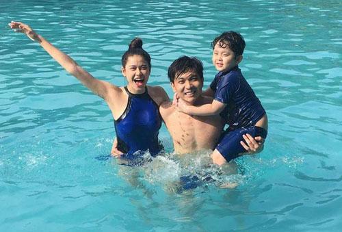 Vợ chồng Trương Quỳnh Anh ngày càng mặn nồng sau sóng gió - 2