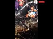 Bạn trẻ - Cuộc sống - Clip: Cô gái vô tâm trong chiếc xe BMW nát vụn