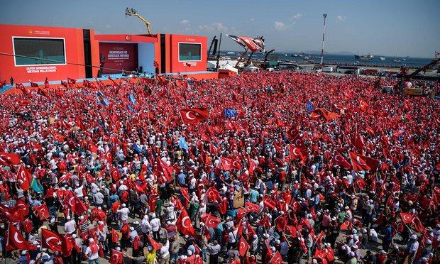 5 triệu người Thổ Nhĩ Kỳ tuần hành ủng hộ chính quyền - 1