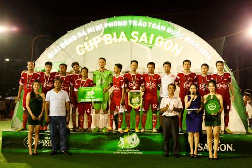 Đội Đinh Gia FC xuất sắc giành Cúp Vô Địch Bia Sài Gòn khu vực Đồng Nai - 2