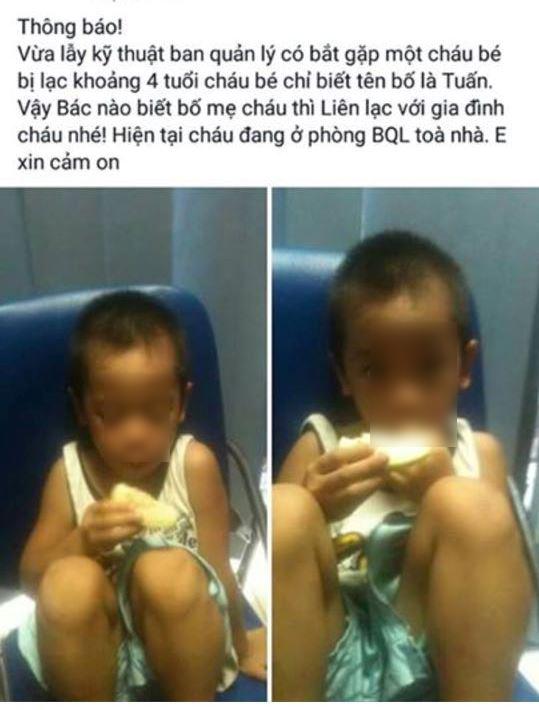 HN: Tìm được bé 4 tuổi đi lạc nhờ mạng xã hội - 1