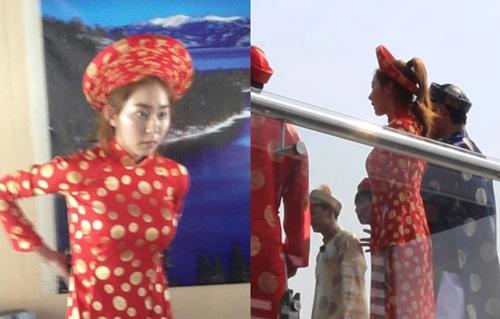 """Hari Won """"thua đứt"""" loạt sao Hàn khi diện áo dài Việt - 12"""