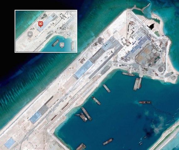Báo Mỹ: TQ gia cố kho chứa máy bay ở Trường Sa - 2