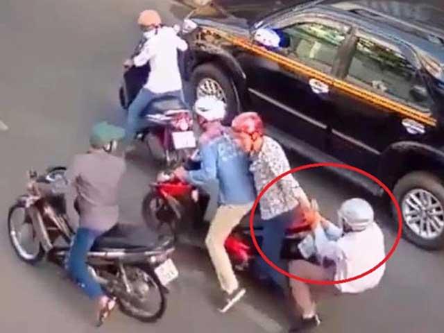 Dàn cảnh va chạm, cướp xe táo tợn trên đường giữa TPHCM - 1