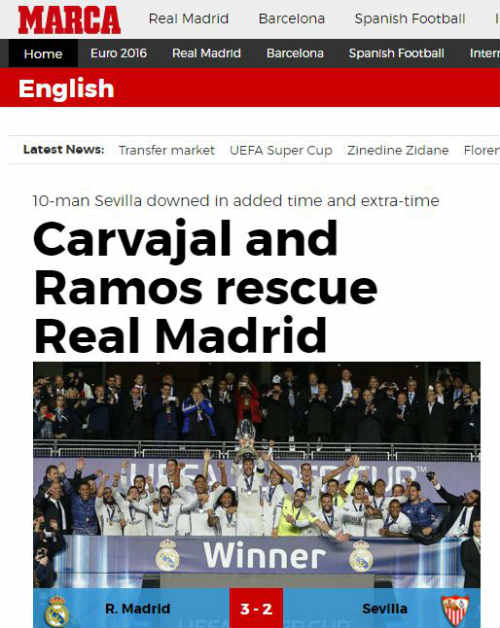 """Giải cứu Real, Ramos khiến báo chí """"cạn lời"""" ngợi ca - 3"""