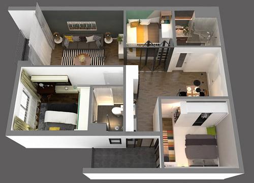 The TWO Residence tăng sức nóng với căn hộ mới 2+1 - 1