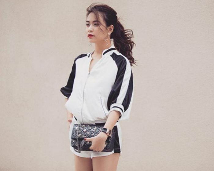 Hoàng Thùy Linh quá gợi cảm với với soóc, váy ngắn - 2