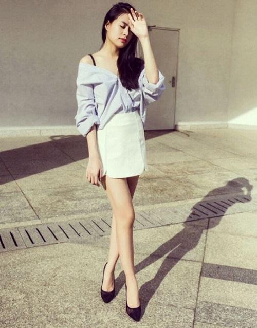 Hoàng Thùy Linh quá gợi cảm với với soóc, váy ngắn - 6