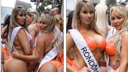 Người đẹp Siêu vòng 3 Brazil náo loạn đường phố - 8
