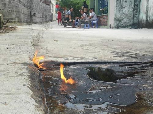 Quảng Ninh: Xác định nguyên nhân làm nước giếng bốc cháy - 1
