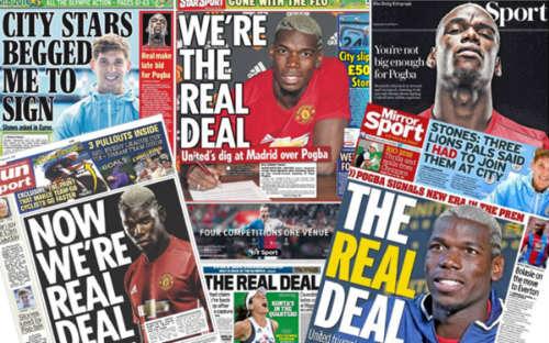 MU mua Pogba, báo Anh châm biếm Real Madrid - 1