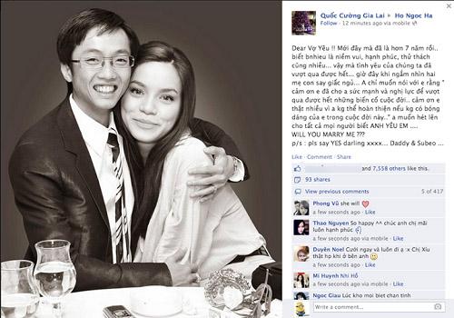 So độ lãng mạn của Quốc Cường và đại gia kim cương khi yêu Hà Hồ - 5