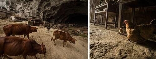 Kỳ lạ ngôi làng trong hang động có lớp học, sân bóng rổ - 3
