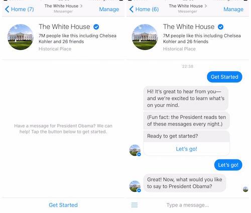 Gửi thư cho Tổng thống Obama thông qua Facebook Messenger - 1