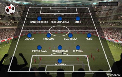 """Đội hình tiêu biểu Olympic: Messi """"đá cặp"""" với Pep - 2"""