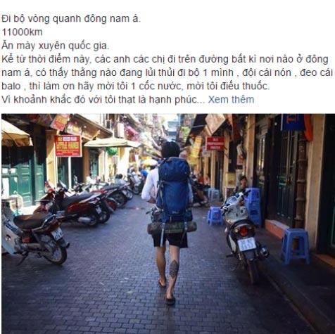 """""""Gã ăn mày"""" ở Hải Dương đi bộ xuyên Đông Nam Á - 2"""