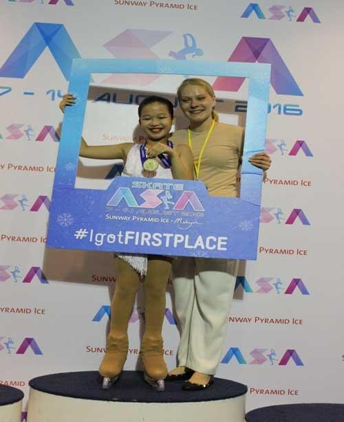 Vinpearl Land đưa HCV đầu tiên tại Giải trượt băng Châu Á - 2