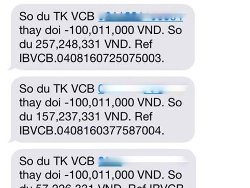 Vì sao khách hàng Vietcombank mất 500 triệu trong tài khoản? - 1