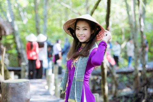 Thí sinh Hoa hậu Việt Nam đẹp hút hồn với áo bà ba - 4