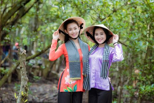 Thí sinh Hoa hậu Việt Nam đẹp hút hồn với áo bà ba - 7