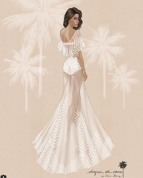 Siêu mẫu Brazil gây sốc khi mặc bikini trong đám cưới - 4