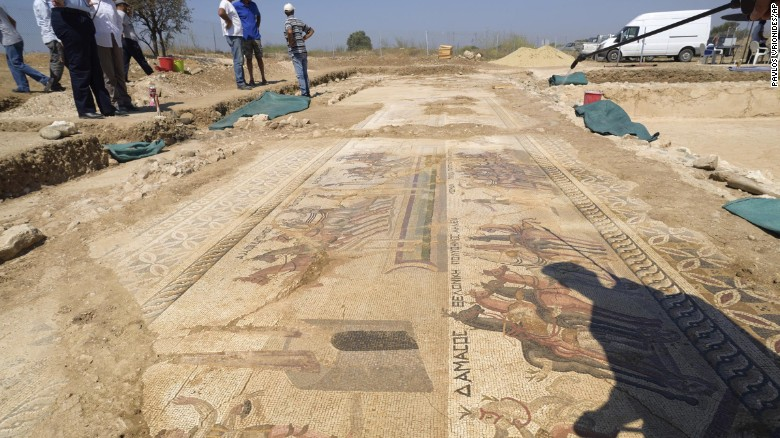 Phát hiện tranh khảm tinh xảo vô giá từ thế kỷ thứ 4 - 1
