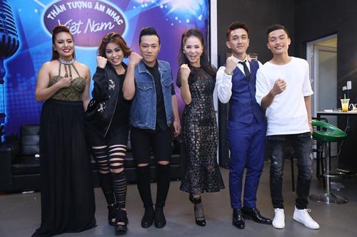 Thu Minh diện lại váy cũ làm giám khảo Vietnam Idol - 5