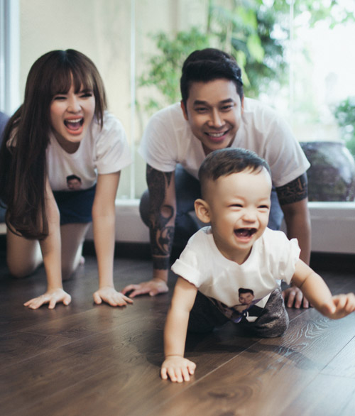 Lê Hoàng The Men khoe ảnh ngọt ngào bên vợ con - 6