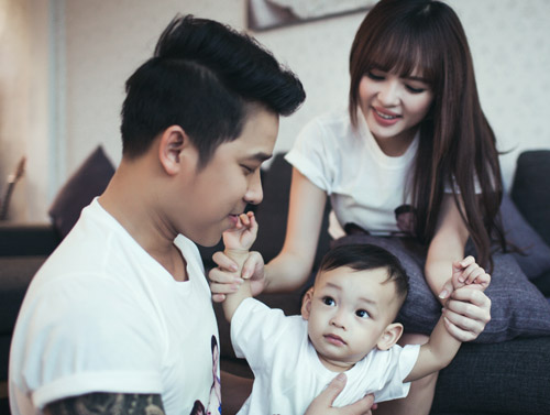 Lê Hoàng The Men khoe ảnh ngọt ngào bên vợ con - 7