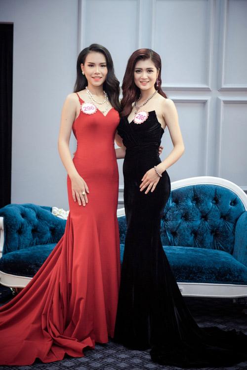 Hoa hậu VN: Thí sinh gợi cảm với đầm ôm sát, xẻ tà - 5