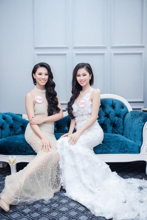 Hoa hậu VN: Thí sinh gợi cảm với đầm ôm sát, xẻ tà - 13