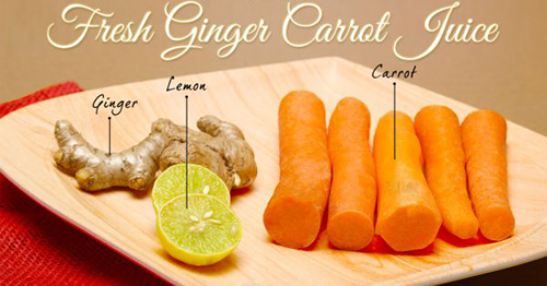 Tự chế nước cà rốt và gừng giúp làn da sáng mịn - 1
