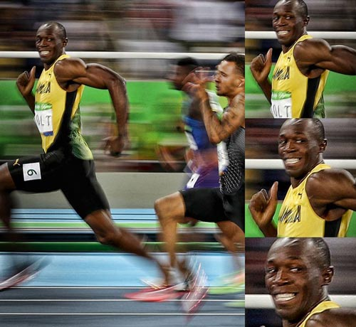 """Vừa chạy vừa cười và vỗ ngực, Bolt vẫn """"vô đối"""" - 1"""