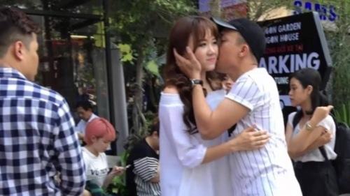 Trấn Thành và bạn gái công khai âu yếm ở nhiều nơi - 6