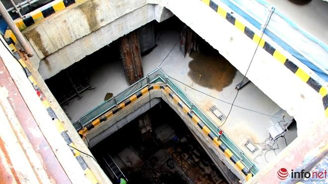 Cận cảnh đại công trường nhà ga metro dưới lòng đất - 1